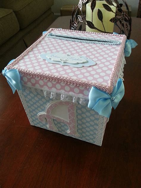 how to make card boxes pink and blue gift card box baby shower card box baby