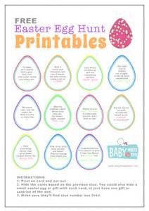 free easter egg hunt printables baby hints and tips