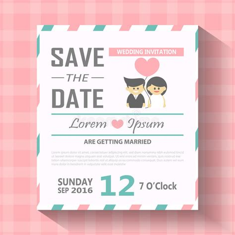 Editable Information Card Template by Wedding Invitation Card Template Vector Illustration