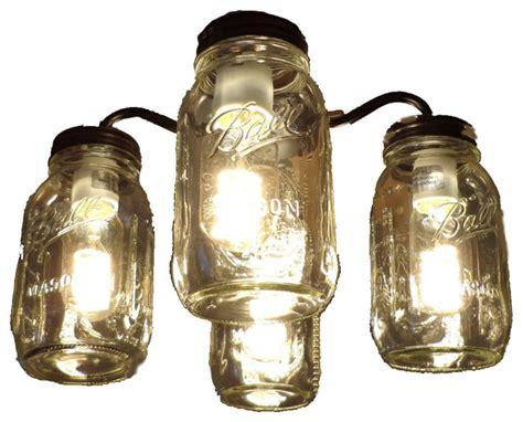 ceiling fan with jar lights jar ceiling fan light kit quart jars