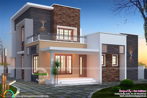 3 bed room flat roof villa with courtyard 2172 sq ft home kerala plans 3 bedroom flat roof 1516 sq ft home kerala home design and floor plans