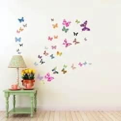 3d Butterfly Stickers For Walls decowall dw 1201 38 farfalle colorate adesivi da parete