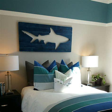 surf bedroom decor distressed shark pallet wall art surf decor beach decor
