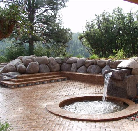 Front Yard Slope Landscaping Ideas - granite boulder retaining wall water feature canyon landscape llc stone masonry and