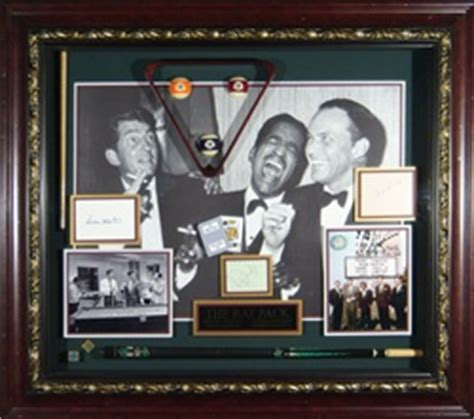 rat pack autographed vintage home theater display
