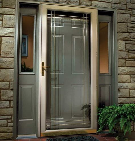 Front Door Inserts How To Style And Security In Your Residence Decor