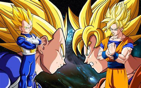 imagenes de goku y gohan fusionados goku vegeta gohan spc cell vs buu gauntlet battles