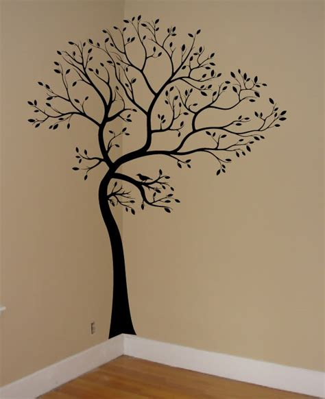 tree stencil for wall mural decals by digiflare wall decal tree branch birds leaves sticker mural