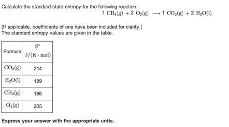 Entropy Change Table Entropy Change Table Standard Molar Entropy Table
