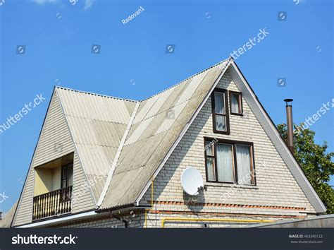 Gable Valley Roof Gable Valley Type Roof Construction Building Stock Photo