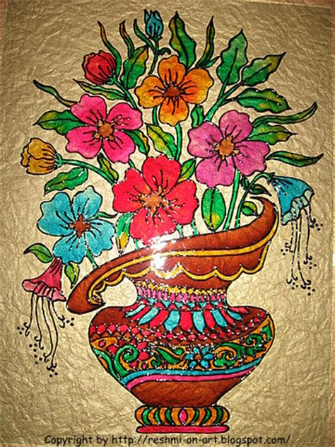 pretty painted floors with flower designs glass painting colourful basket of flowers calligraphy