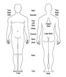 human body diagram front and back
