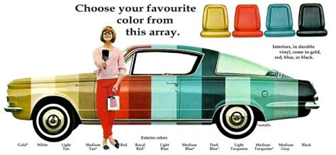 barracuda paint chart choose your color cars