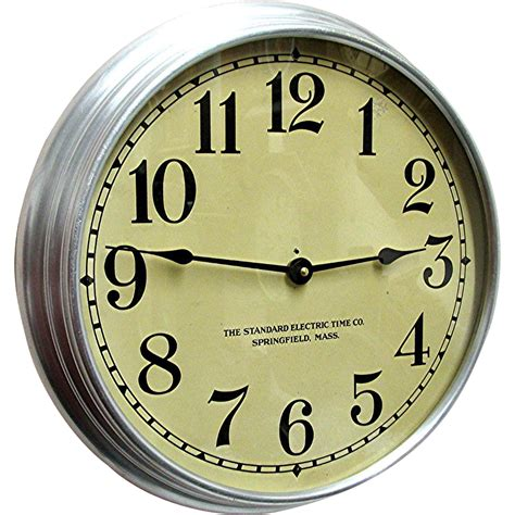 industrial wall clock standard electric industrial wall clock from drury