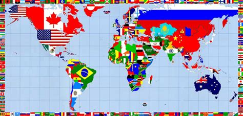 world map with countries flag page 2