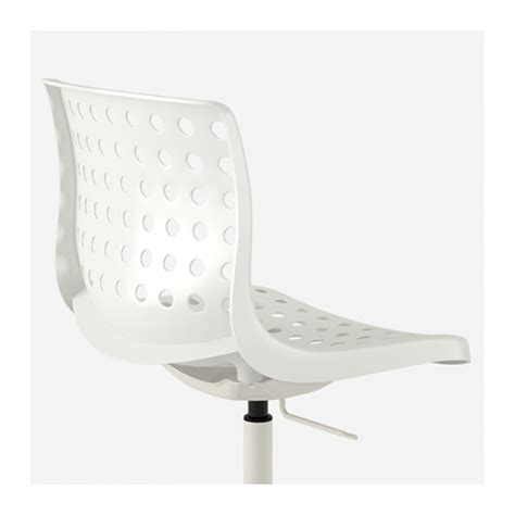 Sk 197 Lberg Sporren Swivel Chair White Ikea White Swivel Chair Ikea