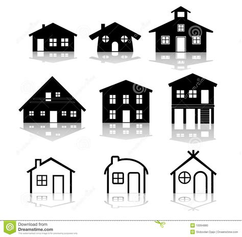 Simple Two Story House Design simple house vector illustrations stock photo image