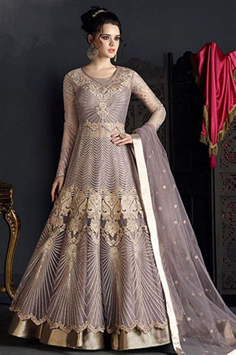 Indian Heavy Work Net Bridal Wedding Wear Designer Girls