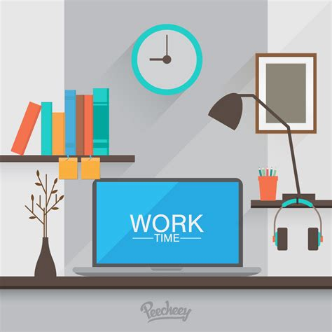 computer desk free workspace computer desk free vector