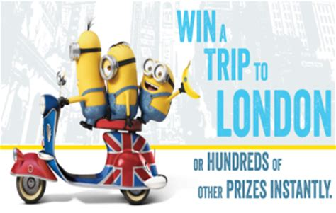 Chiquita Banana Sweepstakes - chiquita banana minions sweepstakes iwg win a trip to london sweepstakes in