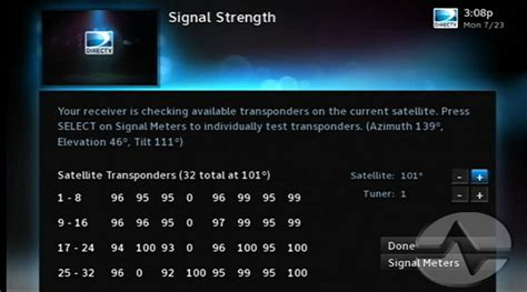 tip learn   signal strength numbers  directv  solid signal blog