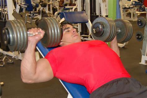 bench press description incline dumbbell press chest exercise description