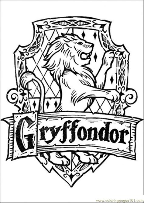 Harry Potter Coloring Pages Hogwarts Crest - Coloring Home