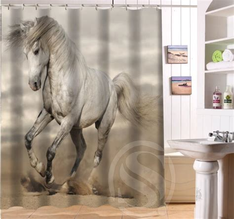 horse shower curtains online get cheap horse shower curtain aliexpress com