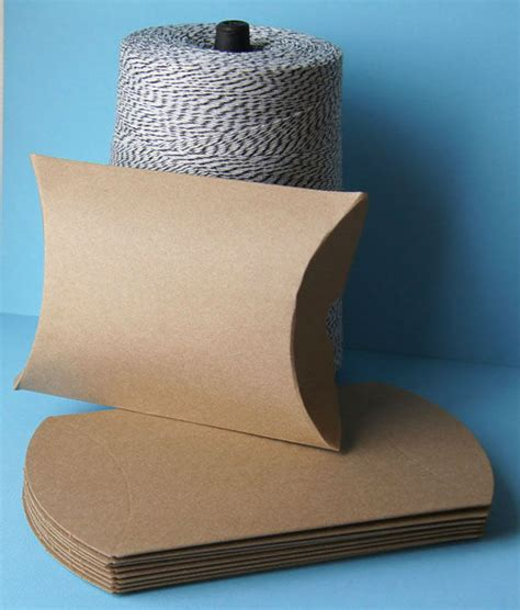 Corrugated Pillow Boxes by Custom Print Corrugated Recycled Kraft Paper Pillow Boxes