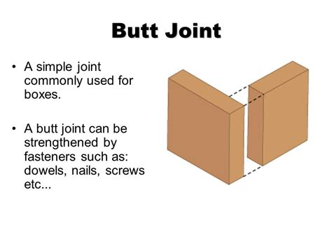 joints used in woodwork wood joinery common wood joints ppt