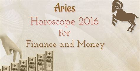 aries horoscope 2016 for finance and money