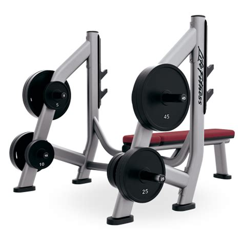lifefitness bench pre owned olympic bench weight storage sobws life fitness