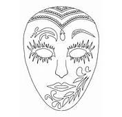 Coloriage Masque Carnaval Sur Hugolescargotcom