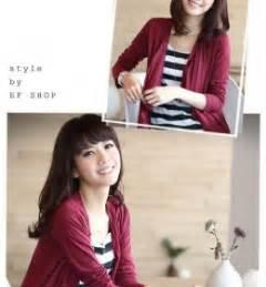 Simple Mini Dress Lengan Panjang Merah Kuning Hitam Import Murah kemeja wanita import lengan panjang garis garis model