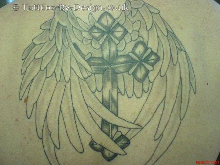 cross and wings tattoo designs best free images with pictures images