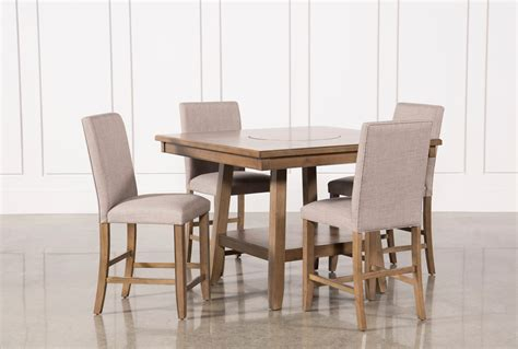 Hyland Counter Height Dining Room Table And Barstools Set