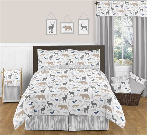 woodland animal bedding woodland animals comforter set 3 piece full queen size by sweet jojo designs