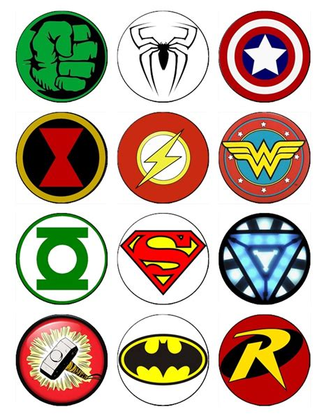 printable marvel stickers superheroes edible image cupcake toppers
