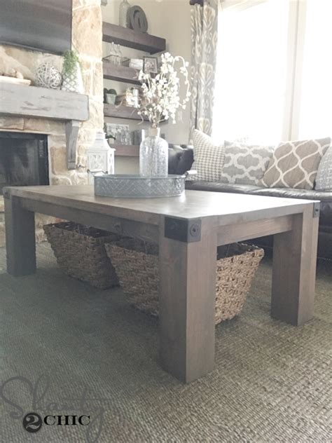 diy industrial coffee table modern farmhouse coffee table and how to shanty 2 chic