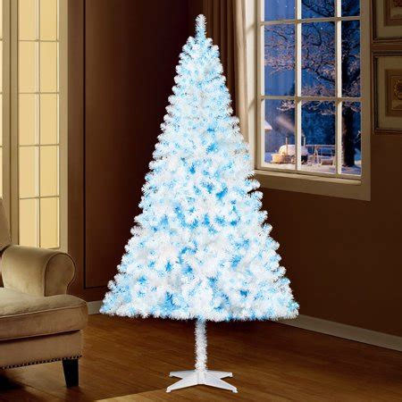 holiday time pre lit 65 madison pine white artificial christmas tree clear lights time 6 5ft pre lit pine artificial tree with 350 blue lights white