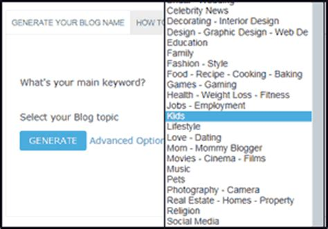blogger name generator blog name generator free search cool name ideas