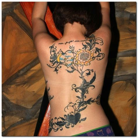 tribal back tattoos for women in gallery vine tattoos designs