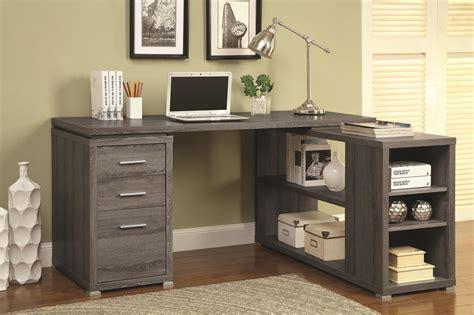 Coaster 800518 Grey Wood Office Desk   Steal A Sofa