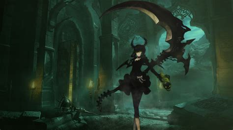 wallpaper green anime black rock shooter full hd wallpaper and hintergrund