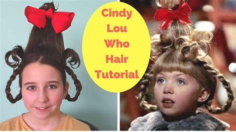 cindy lou  hair tutorial easy halloween hairstyle