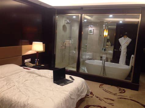 bathtub in hotel room my hotel room bathroom has a glass wall and you can see inside mildlyinteresting