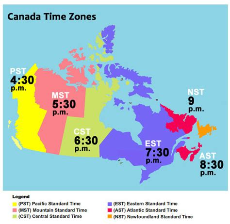 canadian map of timezones facts the 21st cochrane colloquium