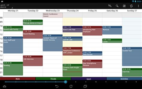 Exchange La Calendar Business Calendar Calendario Aplicaciones De Android