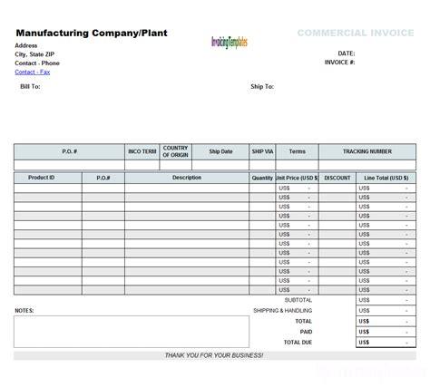 commercial invoice templates 20 results found