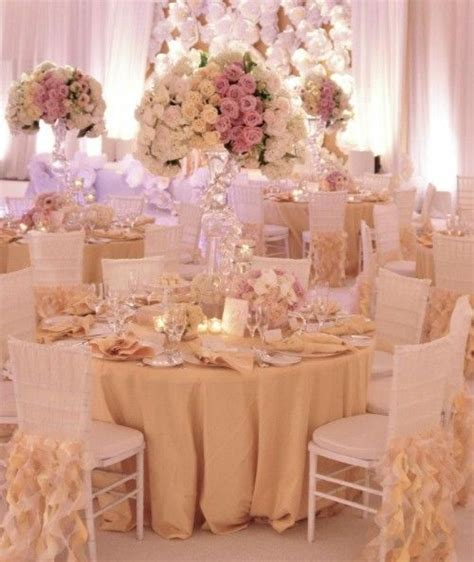 colored table ls gold ivory and blush colored wedding reception